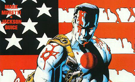 Bloodshot comic cover detail