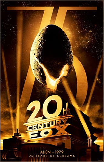 20th Century Fox 75th Anniversary Alien Movie Poster