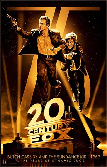 20th Century Fox 75th Anniversary Butch Cassidy and the Sundance Kid Movie Poster