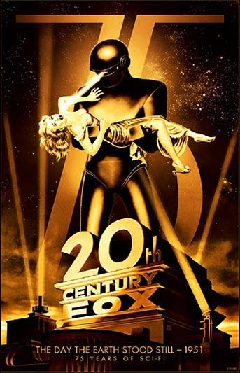 20th Century Fox 75th Anniversary The Day the Earth Stood Still Movie Poster