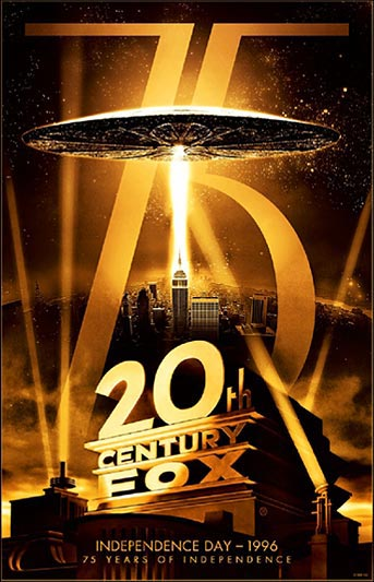 20th Century Fox 75th Anniversary Independence Day Movie Poster