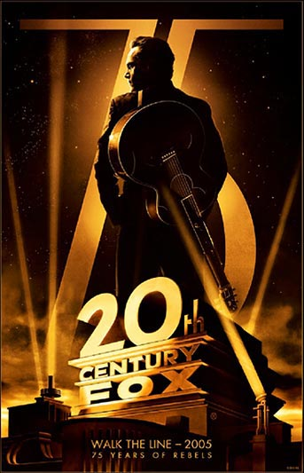 20th Century Fox 75th Anniversary Walk the Line Movie Poster