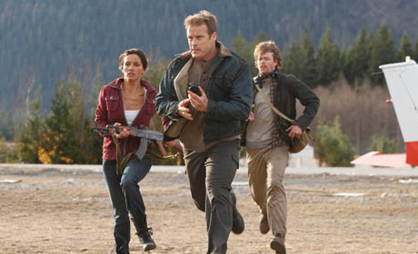 Leonor Varela - Mark Valley and Kris Marshall in Human Target