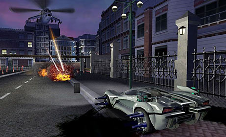 Screenshot from the 2006 game Spy Hunter 3: Nowhere to Run