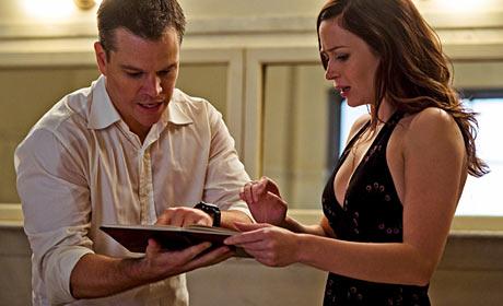 Matt Damon and Emily Blunt in Adjustment Bureau