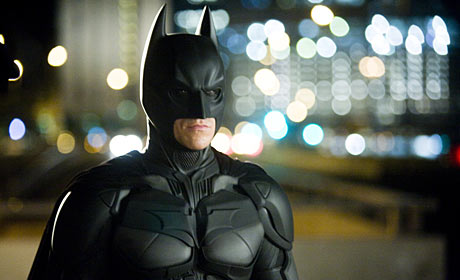 Christian Bale plays Bruce Wayne, a.k.a. Batman, in The Dark Knight