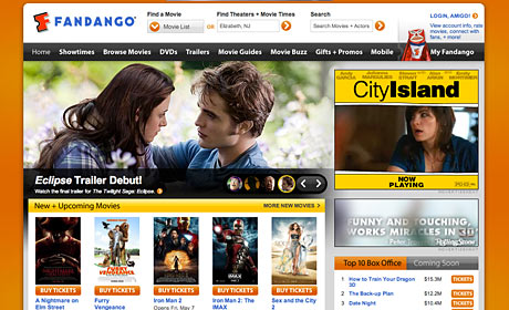 Fandango website screenshot