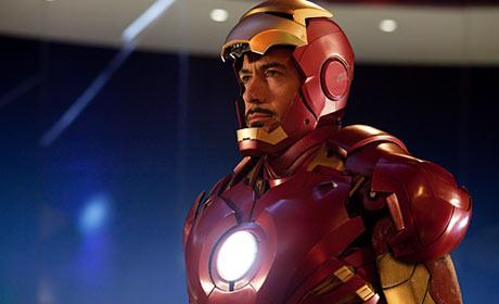 Robert Downey Jr. is Iron Man in Iron Man 2