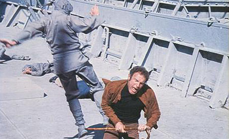 James Caan fights a ninja in The Killer Elite