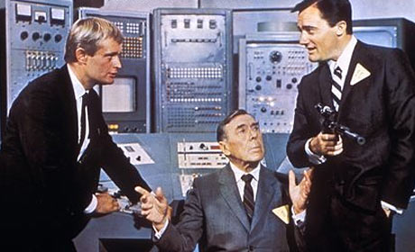 David McCallum - Leo G. Carroll and Robert Vaughn in an episode of The Man from U.N.C.L.E.