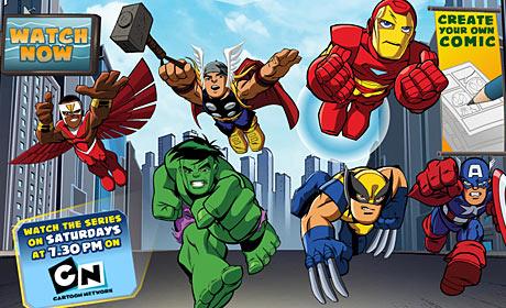 The Super Hero Squad Show website screenshot
