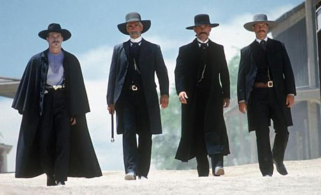 Val Kilmer, Sam Elliott, Kurt Russell and Bill Paxton in Tombstone