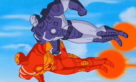 Scene from Iron Man The Animated Series