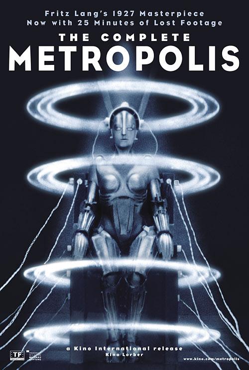 Metropolis DVD and Blu-ray restored release package art
