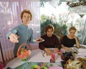 Mrs. McCullum (Grace Zabriski), Ingrid (Chloe Sevigny) and Brad McCullum (Michael Shannon) in MY SON, MY SON, WHAT HAVE YE DONE Photo Credit: Lena Herzog. Courtesy of Absurda