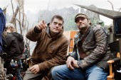 Director Nimrod Antal and Producer Robert Rodriguez on the set of PREDATORS. Photo: Rico Torres