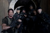 From left to right: Barney Ross (Sylvester Stallone), Ying Yang (Jet Li), Toll Road (Randy Couture), Hale Caesar (Terry Crews) and Lee Christmas (Jason Statham) in THE EXPENDABLES. Photo credit: Karen Ballard