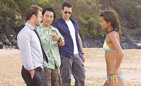 Scott Caan, Daniel Dae Kim, Alex O'Loughlin and Grace Park in Hawaii Five-0
