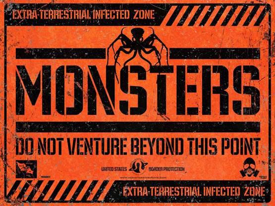 Monsters U.K. movie poster
