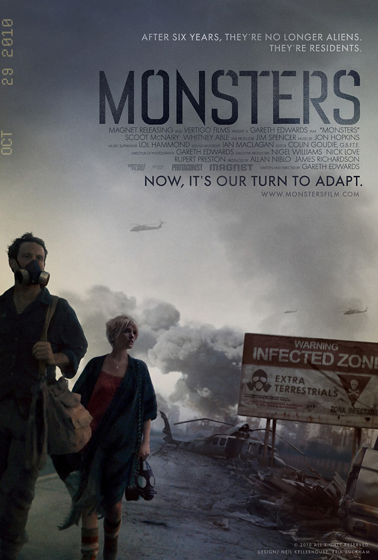 Monsters final U.S. release movie poster