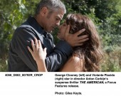 George Clooney and Violante Placido in The American
