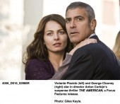 Violante Placido (left) and George Clooney (right) in The American