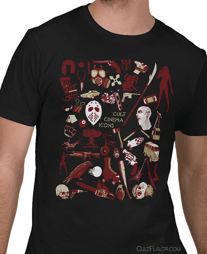Cult Cinema Icons tee shirt designs