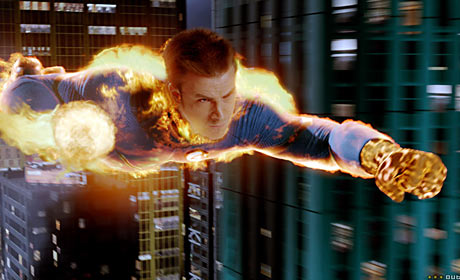 Chris Evans as Human Torch Johnny Storm in Fantastic 4: Rise of the Silver Surfer