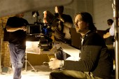 Director Matt Reeves on the set of Let Me In
