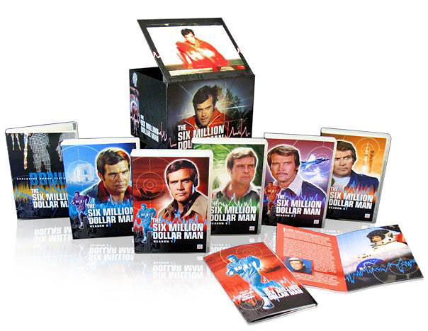 The Six Million Dollar Man The Complete Collection DVD set packaging