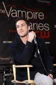 The Vampire Diaries star Michael Trevino on stage during the event.