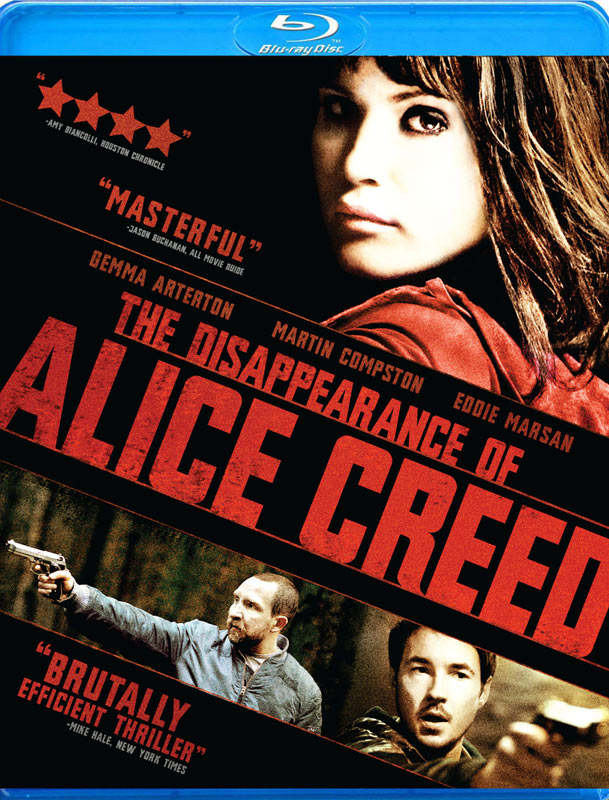 The Disappearance of Alice Creed Blu-ray packaging