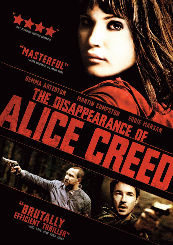 The Disappearance of Alice Creed DVD packaging