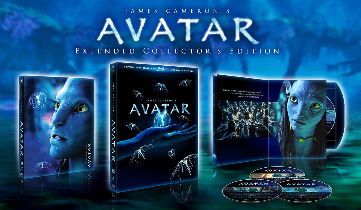 Avatar Extended Collection's Edition: 3-Disc Collector's Edition Blu-ray packaging