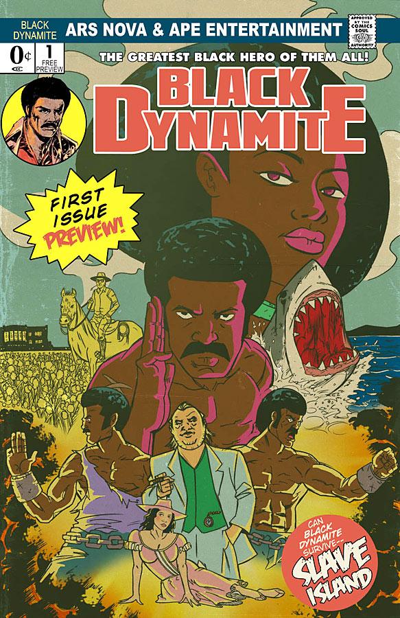 Black Dynamite: Slave Island preview book cover