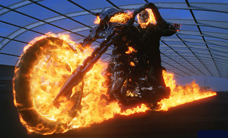 Nicolas Cage in the 2007 film Ghost Rider