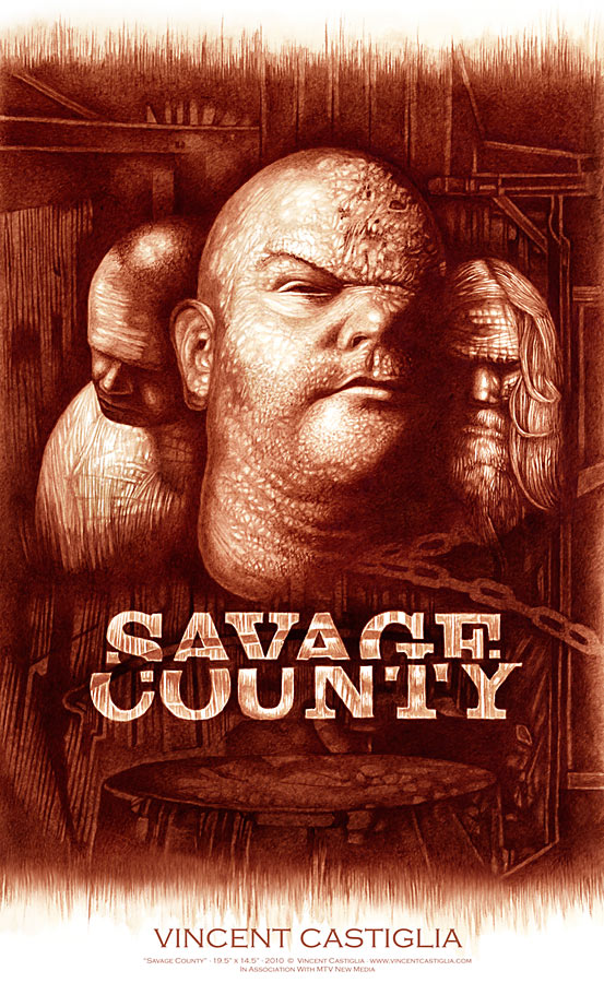 Savage County television poster by artist Vincent Castiglia