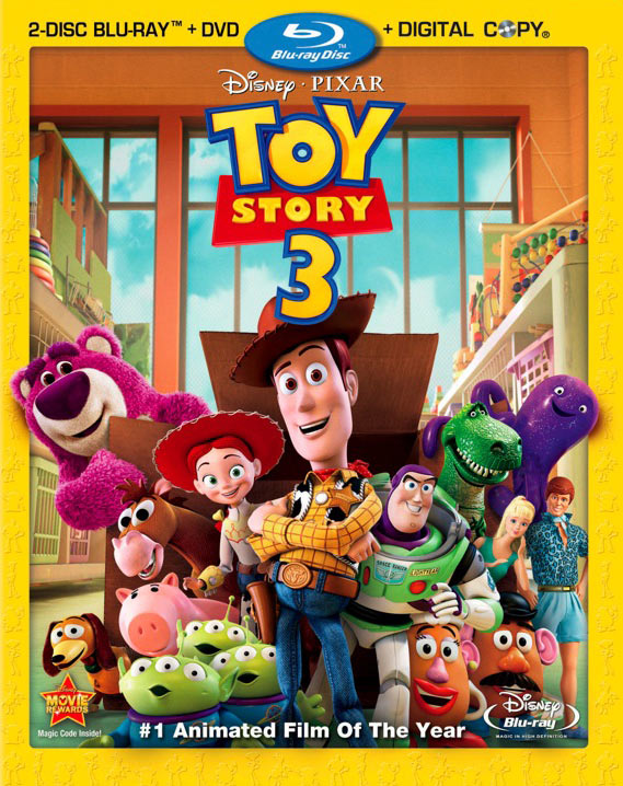 Toy Story 3 Blu-ray packaging