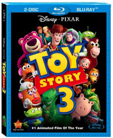 Toy Story 3 4-Disc Combo Pack packaging