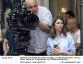 Director of photography Harris Savides (left) and director Sofia Coppola (right) on the set of SOMEWHERE, a Focus Features release. Photo Credit: Franco Biciocchi