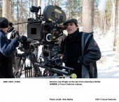 Director Joe Wright on the set of his adventure thriller HANNA, a Focus Features release. Photo credit: Alex Bailey.