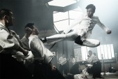 Donnie Yen stars as Chen Zhen, administering his trademark flying kick, in a scene from Andrew Lau's Legend of the Fist: The Return of Chen Zhen. Courtesy of Variance Films and Well Go USA