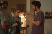 Josh Radnor directs Zoe Kazan on the set of Anchor Bay Films' HappyThankYouMorePlease - Photo Credit: Matt Marks