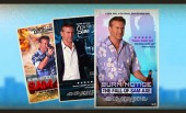 USA releases animated retro posters for Burn Notice Sam Axe movie premiere this weekend