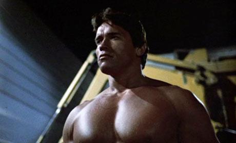 Arnold Schwarzenegger in James Cameron's 1984 cult classic The Terminator