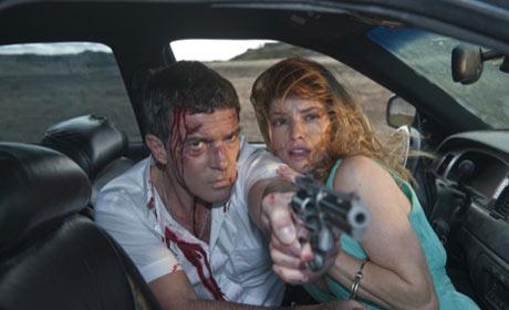 Antonio Banderas and Sienna Guillory in The Big Bang
