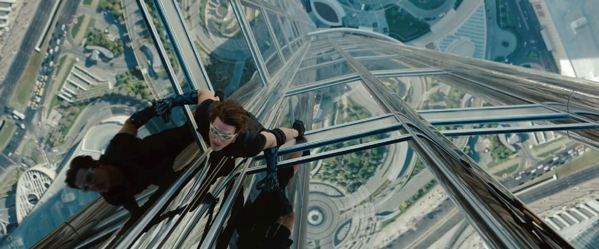 Tom Cruise in Mission: Impossible Ghost Protocol