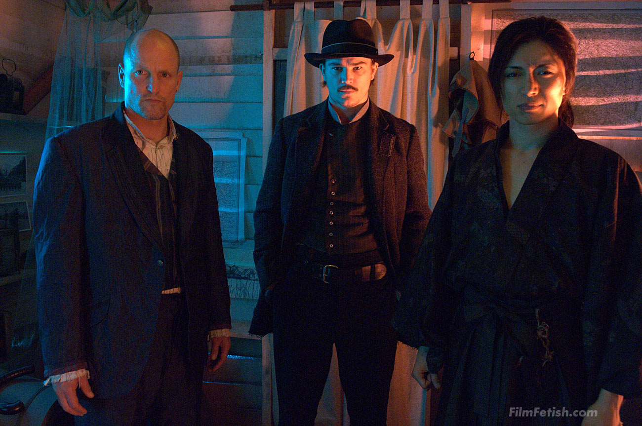 Josh Hartnett, Woody Harrelson and Gackt in the Guy Moshe martial arts action fantasy film Bunraku.