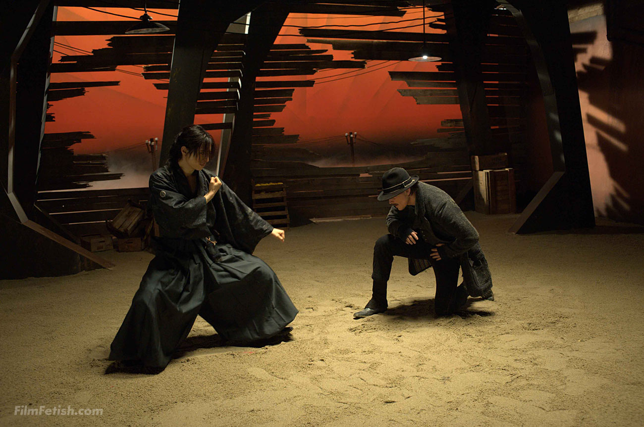 Josh Hartnett in the martial arts action fantasy film Bunraku.