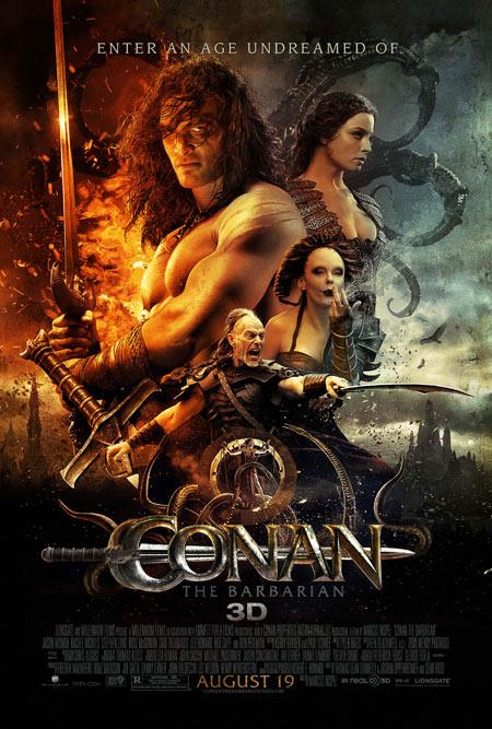 Conan the Barbarian 3D movie poster